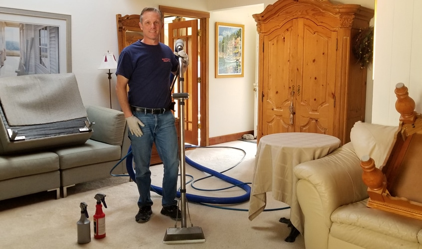 Chris Larsen, owner at Sonoma County Carpet Care in Santa Rosa, CA.